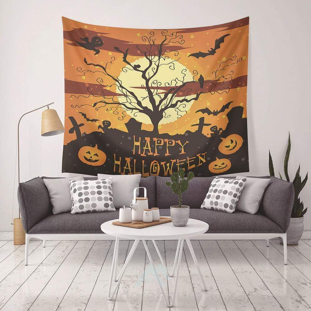 Halloween Hanging Blanket Rug Home Decor-Halloween-Adorehouse.com