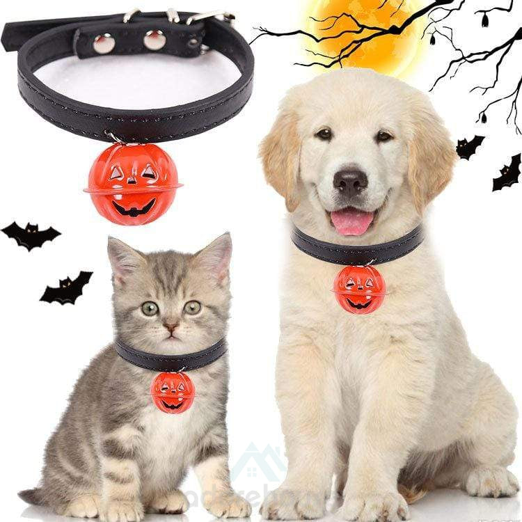 Pet Adjustable Halloween Collar with Bell-Halloween-Adorehouse.com