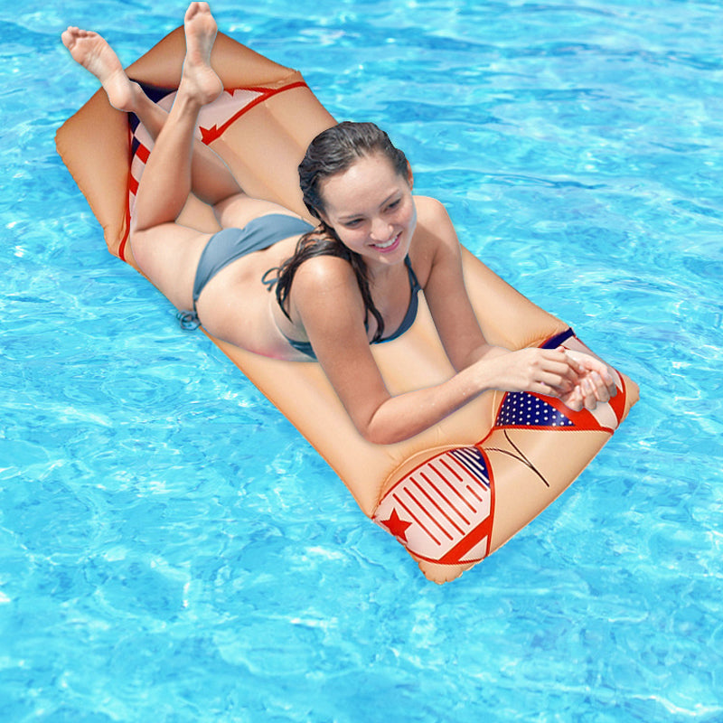 Inflatable Swimming Floating Tube Raft Beach Toys 180x90cm
