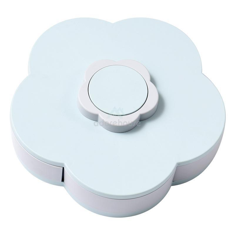 Double-decker Flower-shaped Expandable Snack Box-Household Storage-Adorehouse.com