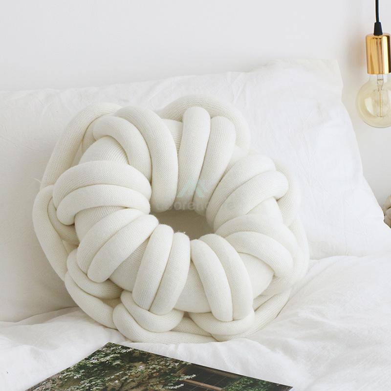 Solid Color Doughnut Shape Cushion Ring Pillows-Decorative Pillows-Adorehouse.com