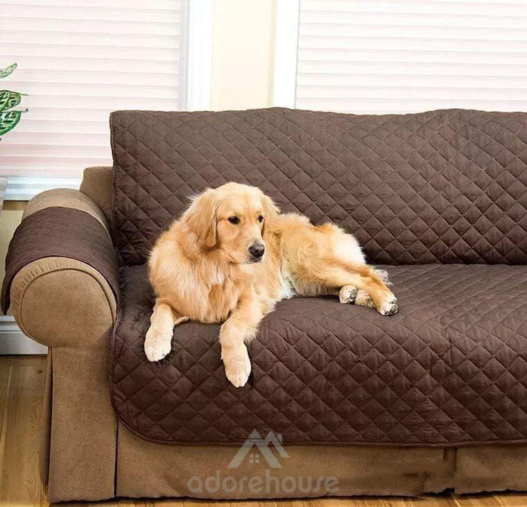 Waterproof Anti-slip Sofa Cover Couch Recliner-Dogs-Adorehouse.com