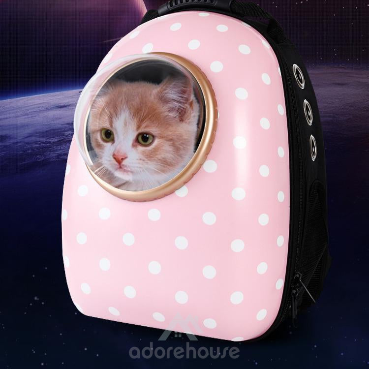 Breathable Light Panoramic Capsule Pet Carrier Backpack-Cats-Adorehouse.com