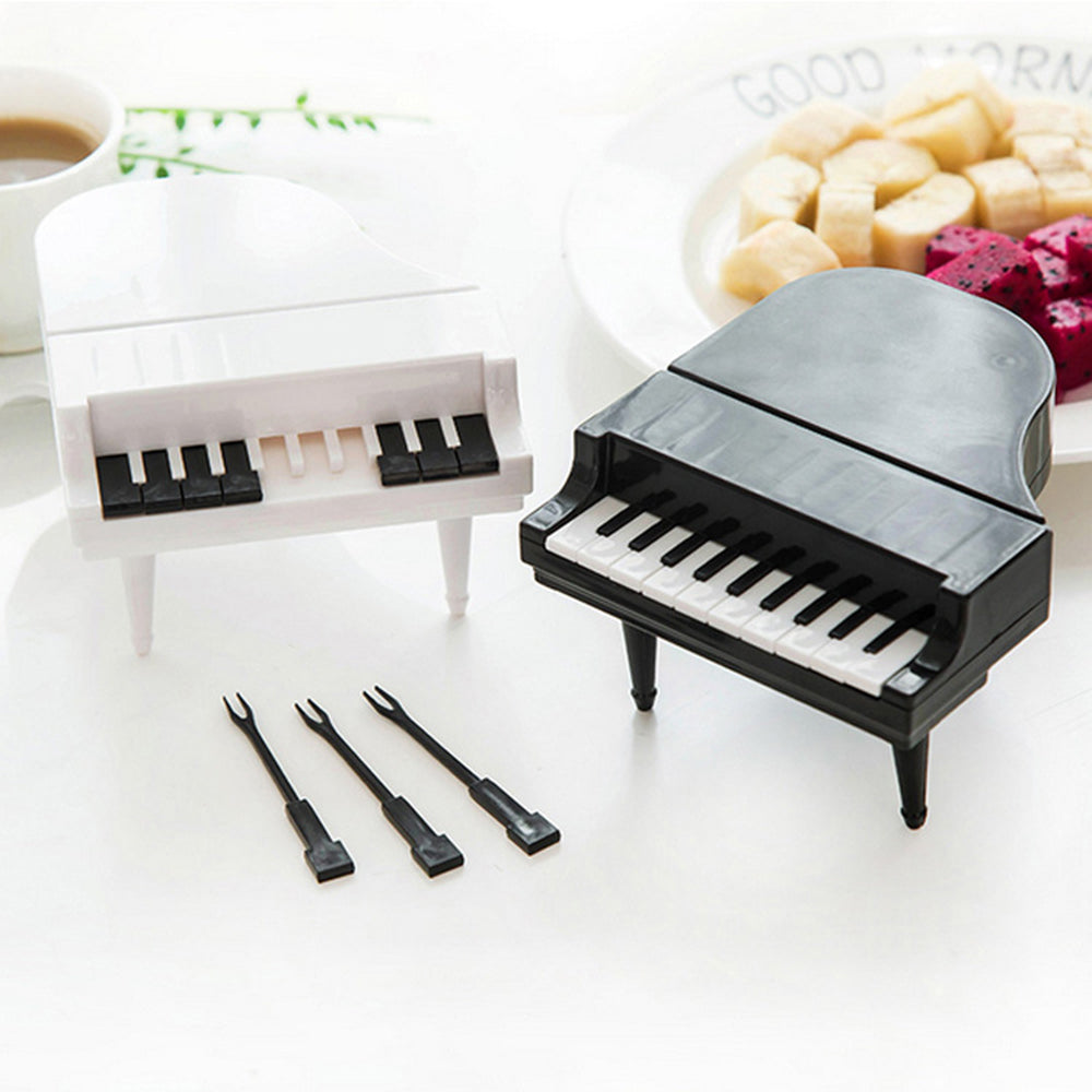 Mini Piano Fruit Forks For Dessert Cake Creative Home Decoration