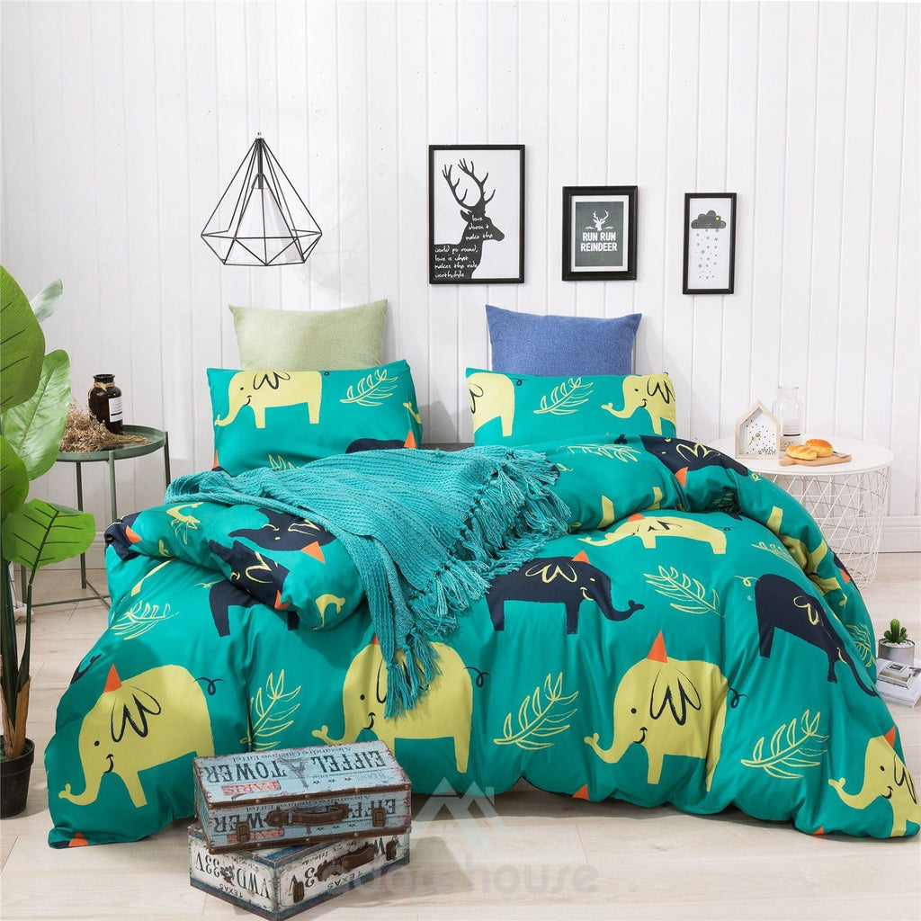 Modern Lightweight Microfiber Duvet Cover Set 3pc-Duvet Cover Set-Adorehouse.com