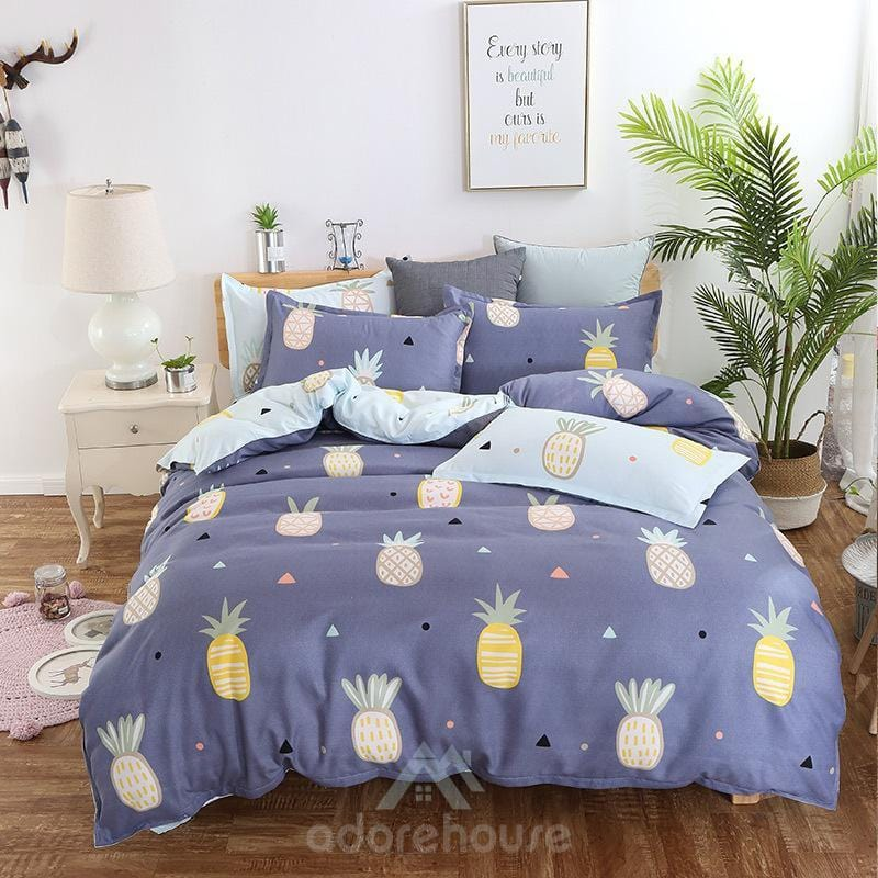 Fashion Soft Microfiber Duvet Cover Set 3pc-Duvet Cover Set-Adorehouse.com