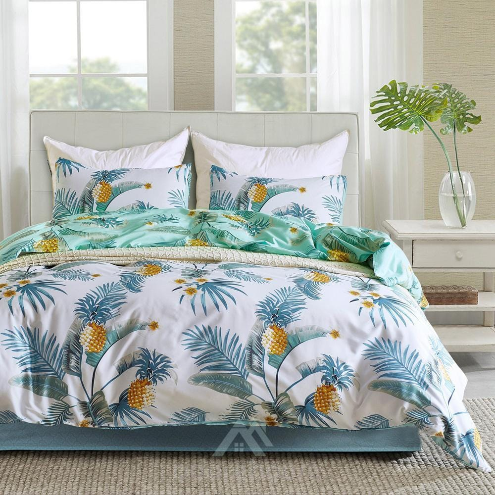 Elegant Floral Microfiber Duvet Cover Set 3pc-Duvet Cover Set-Adorehouse.com