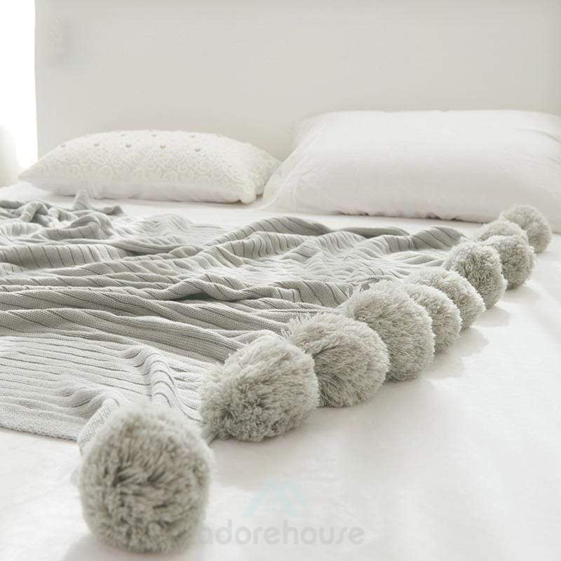 Cotton Ball Carpet Air-Conditioning Decorative Blanket-Blankets & Throws-Adorehouse.com