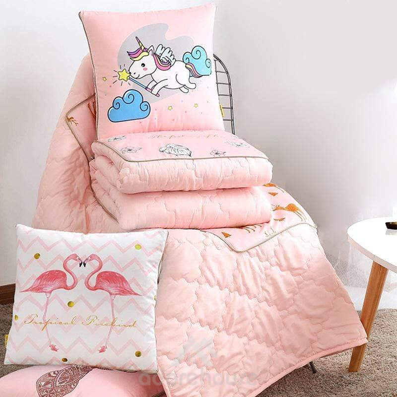 2 in 1 Foldable Decorative Throw Pillow Quilts-Decorative Pillows-Adorehouse.com