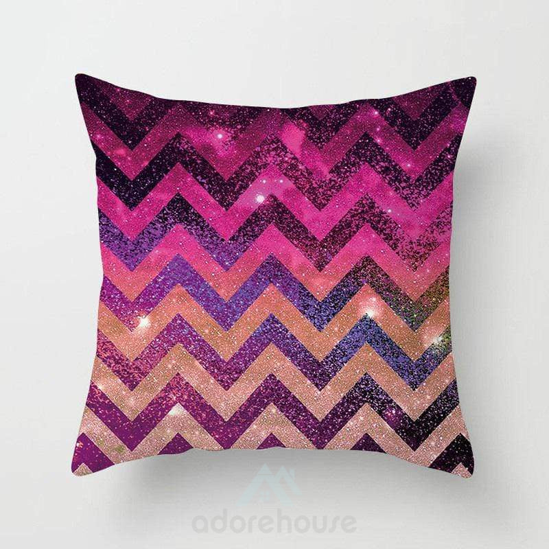 Modern Geometric Print Square Pillowcases-Decorative Pillows-Adorehouse.com