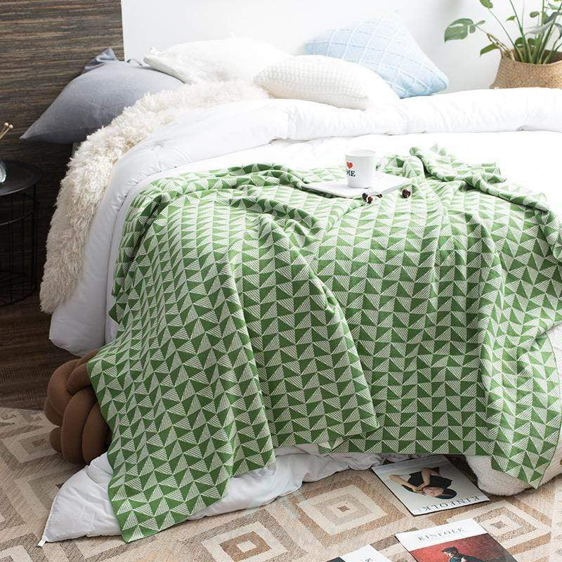 Knitted Air Condition Sofa Blanket-Quilts & Bedspreads-Adorehouse.com
