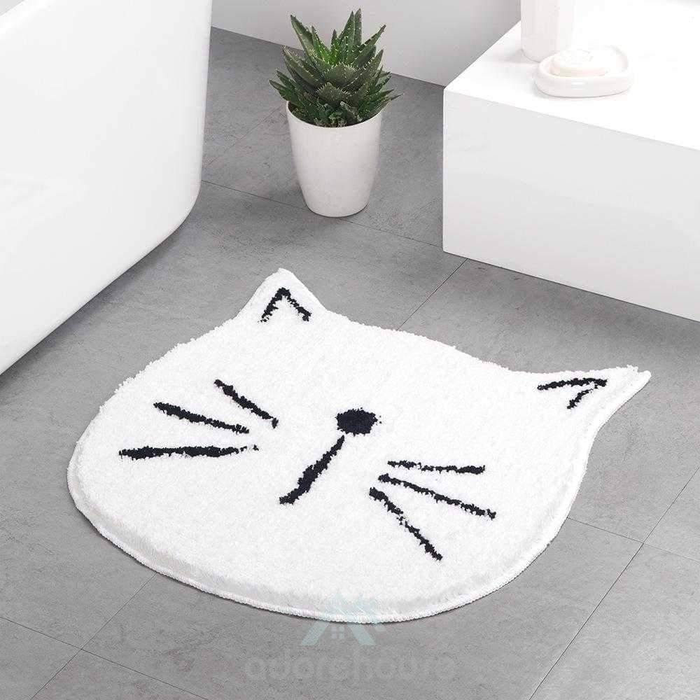 Adorable Cartoon Cat Microfiber Bath Mat-Bath Rugs & Mats-Adorehouse.com