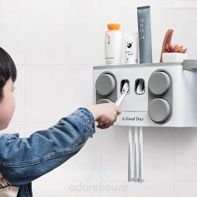 Wall-mounted Automatic Toothpaste Squeezer Set-Bathroom Storage-Adorehouse.com