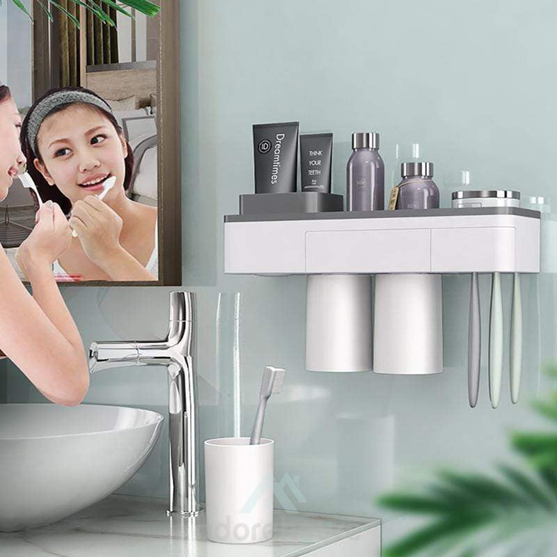 Drill-Free Magnetic Adsorption Inverted Toiletry Storage Set-Bathroom Storage-Adorehouse.com
