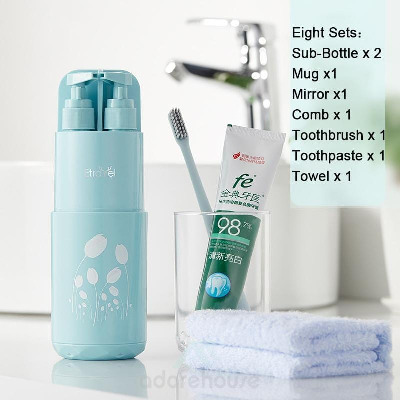 8 in 1 Toothbrush Holder Toiletries Organizer-Bathroom Storage-Adorehouse.com