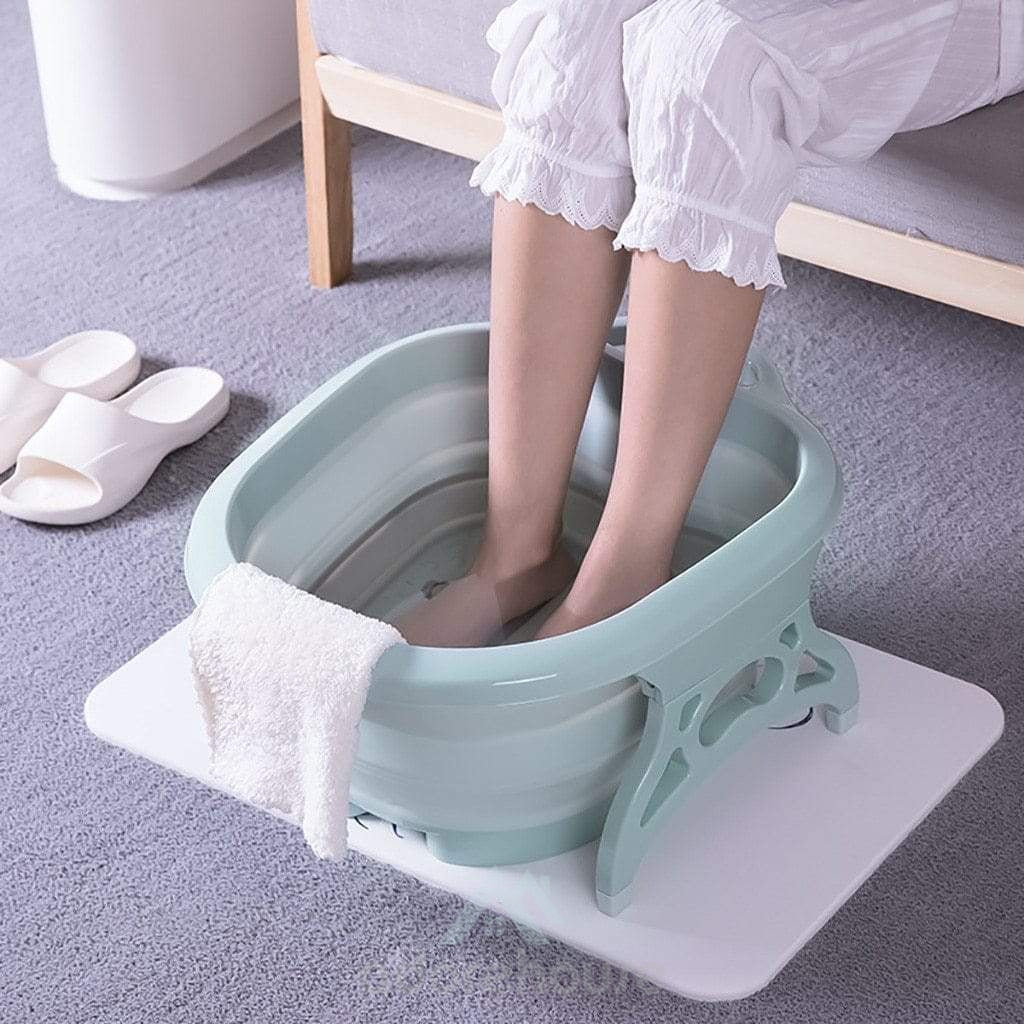 Portable Foldable Roller Foot Bath Tub-Bed & Bath-Adorehouse.com