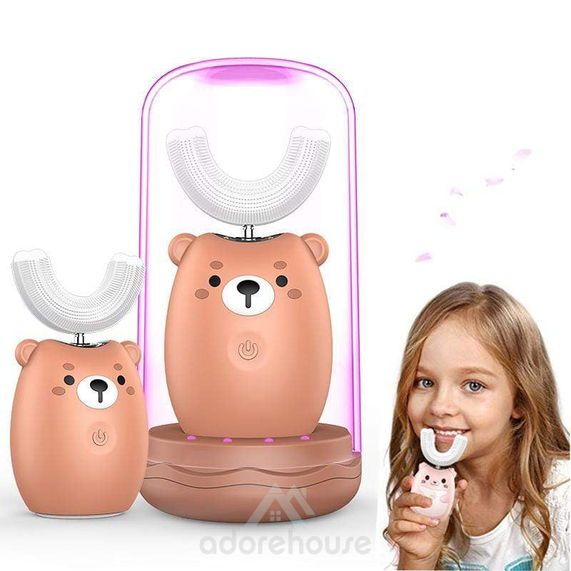 Smart 360° Kids Sonic Automatic U-shaped Cartoon Pattern Toothbrush-Toilet Accessories-Adorehouse.com