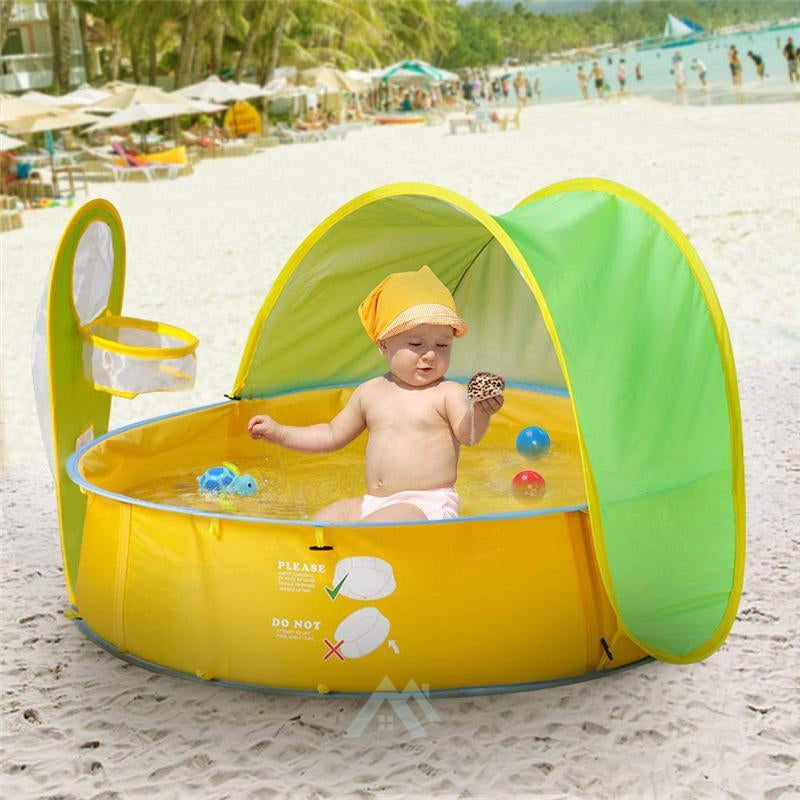 Portable Pop Up Baby Beach Tent with Pool-Sports & Leisure-Adorehouse.com