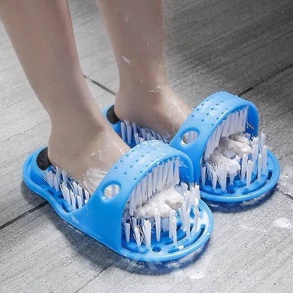 Shower Spa Massager Slippers Bath Shoe Lazy Bath Shoes Brush for Remove Dead Skin-Toilet Accessories-Adorehouse.com