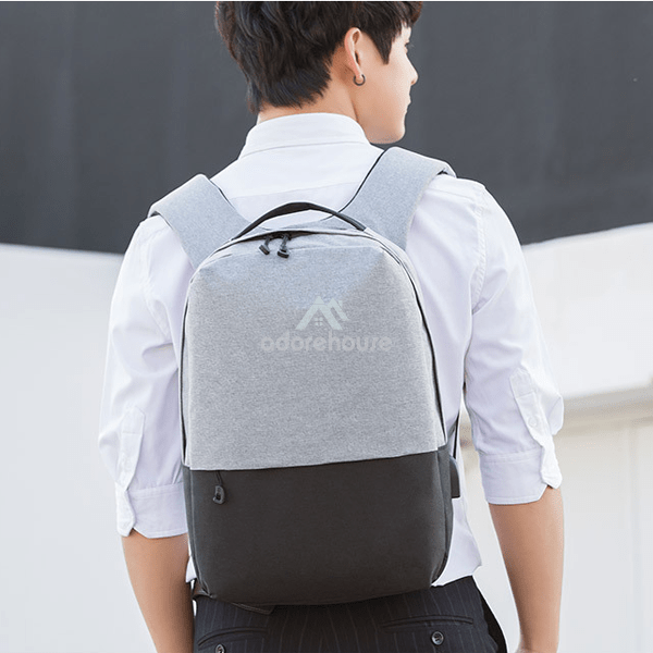 School Anti-theft Waterproof Oxford Backpacks With USB Charging Port-Backpacks-Adorehouse.com