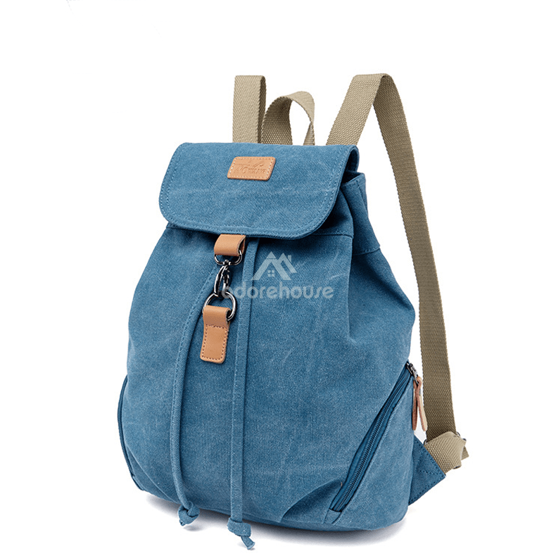 2019 Fashion Travel Backpack Women Canvas College School Bags-Backpacks-Adorehouse.com