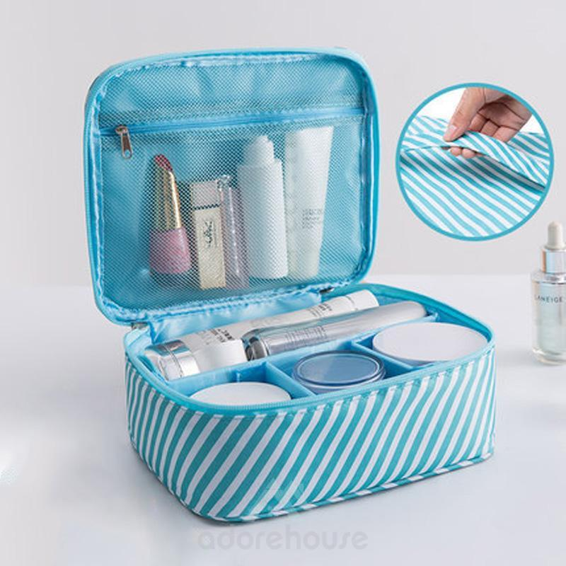Portable Waterproof Toiletry Makeup Cosmetic Shaving Bag-Cosmetic & Wash Bags-Adorehouse.com