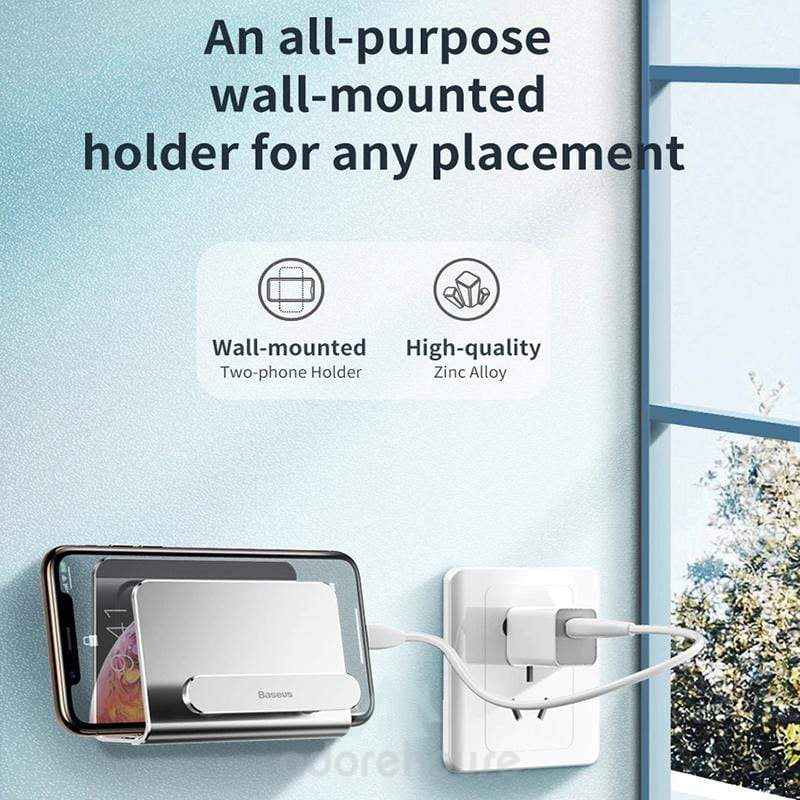 Multifunction Metal Adhesive Wall Mount Holder-Phone Accessories-Adorehouse.com