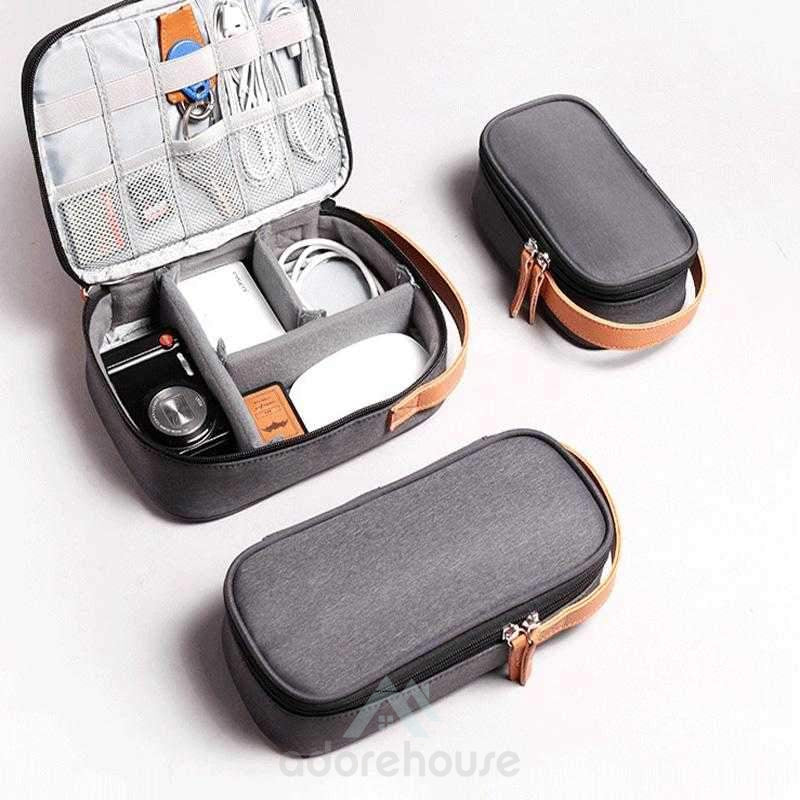 Portable External Hard DriveCarrying Case Universal USB Cable Organizer Bag-Digital Case & Bags-Adorehouse.com