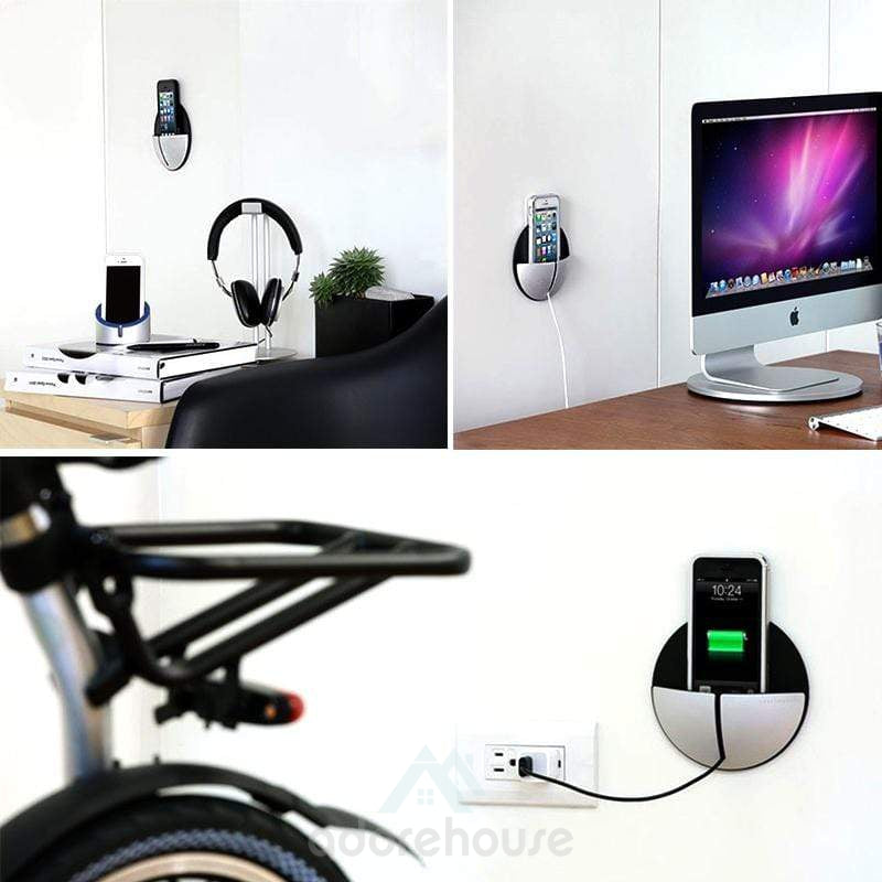 Wall-mounted Mobile Phone Charge Holder Bracket-Phone Accessories-Adorehouse.com