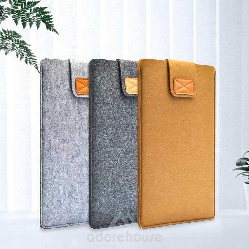 Ultraportable Protective Felt Slim Carrying Handbag Sleeve Case Cover Laptop Sleeve-Digital Case & Bags-Adorehouse.com