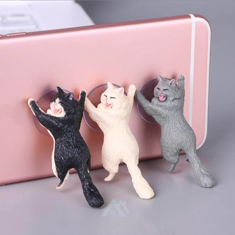 Cute Mr Cat Smartphone Holder Mobile Phone Stand-Phone Accessories-Adorehouse.com