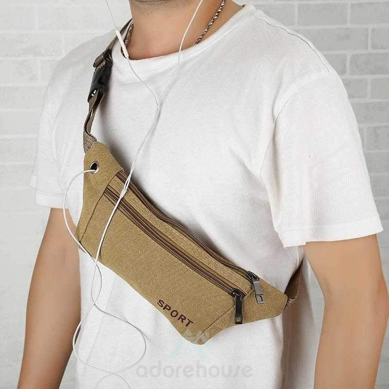 Waterproof Canvas Water Resistant Waist Bag-Waist Packs-Adorehouse.com