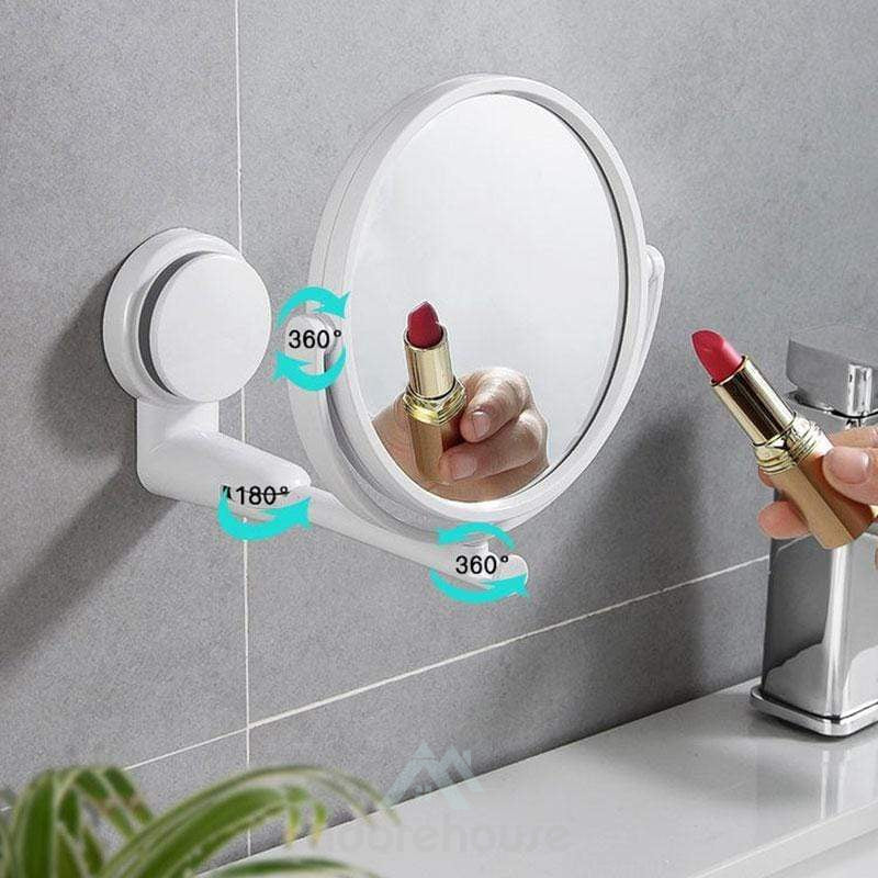 Wall-mounted Foldable Rotating Single Mirror-Makeup Mirrors-Adorehouse.com
