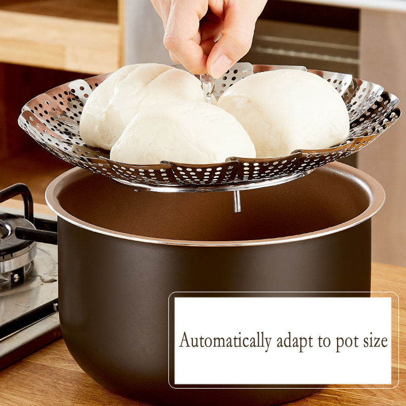 Folding Dish Steam Stainless Steel Food Steamer Basket