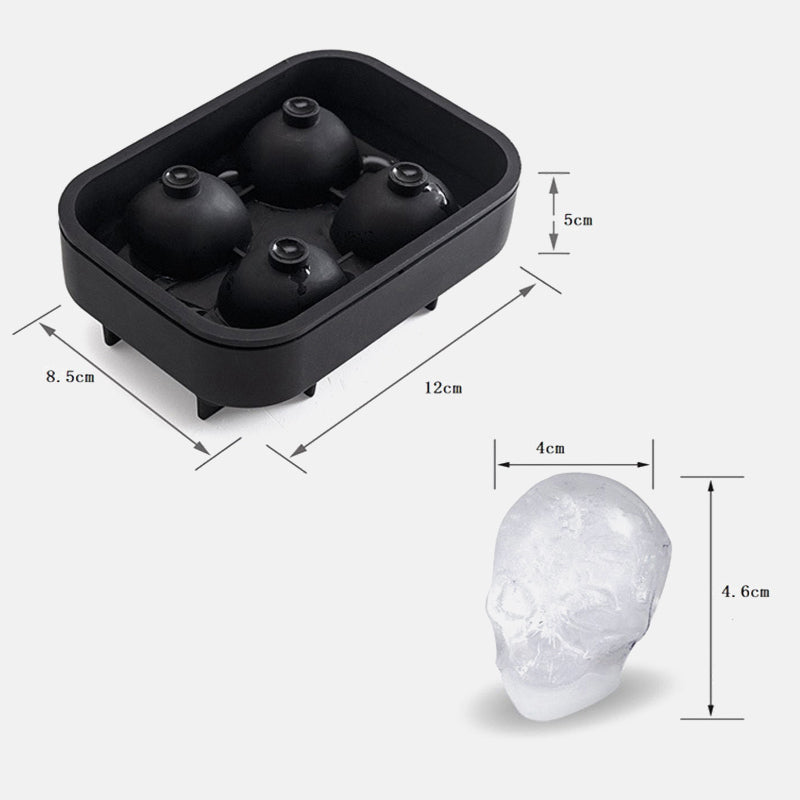 3D Skull Silicone Mold Ice Cube Maker