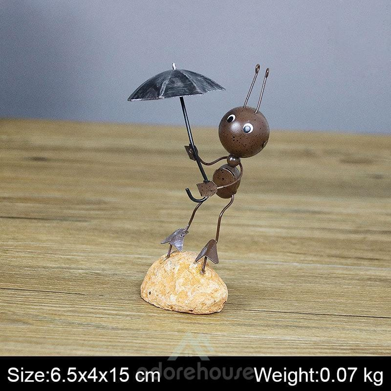 Creative Metal Ant Ornament Office Crafts-Crafts & Ornaments-Adorehouse.com