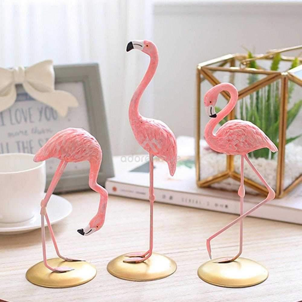 Pink Flamingo Shaped Resin Ornament-Crafts & Ornaments-Adorehouse.com