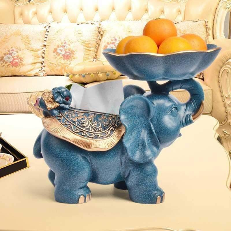 Cute Elephant Table Storage Box-Crafts & Ornaments-Adorehouse.com