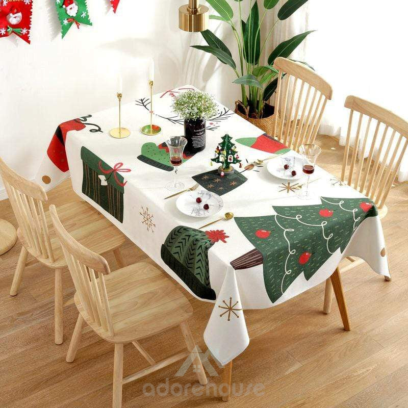 Printed Waterproof Tablecloth for Christmas Decoration-Christmas Props-Adorehouse.com