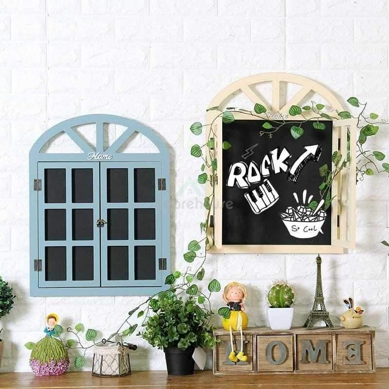 Retro Window Blackboard Wall Decoration-Wall Decor-Adorehouse.com