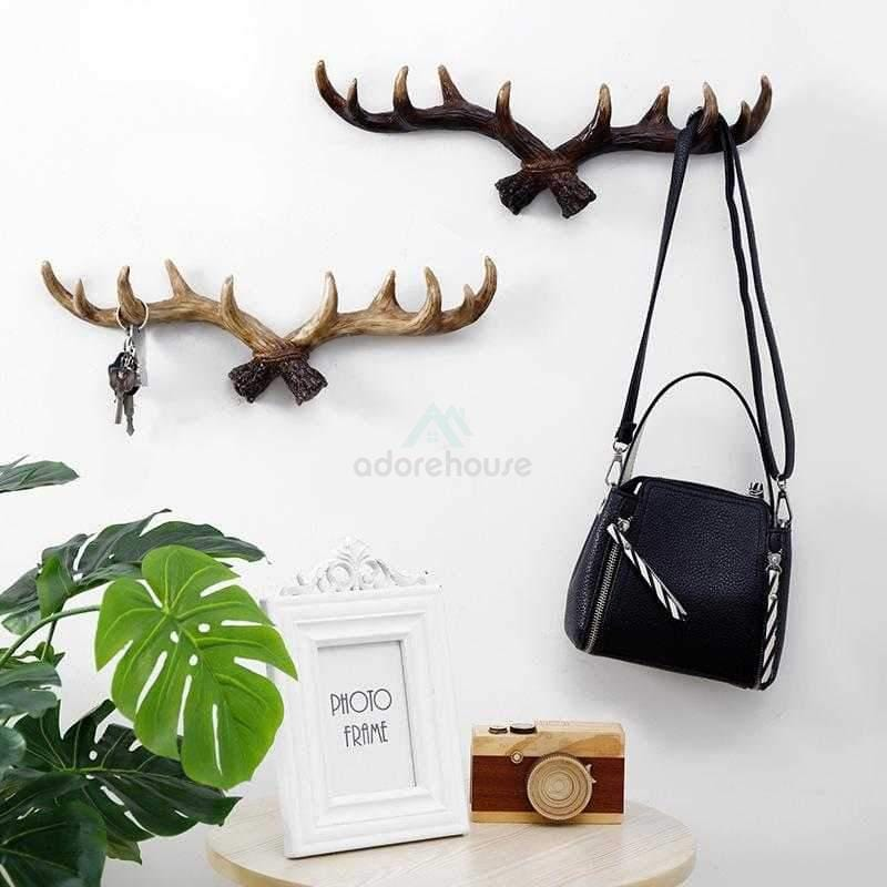 Retro Antler Wall Hanging Wall Decoration-Wall Decor-Adorehouse.com