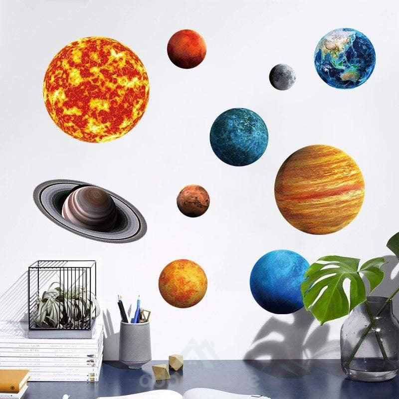 Planets Luminescent Night Light Wall Sticker-Wall Decor-Adorehouse.com