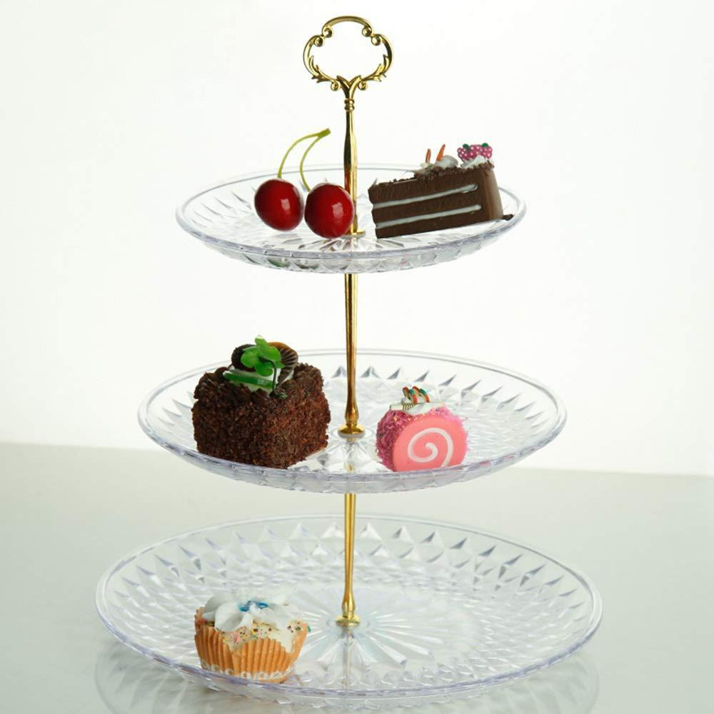 Three-Layer Party Holiday Creative Dessert Tray-Household Storage-Adorehouse.com