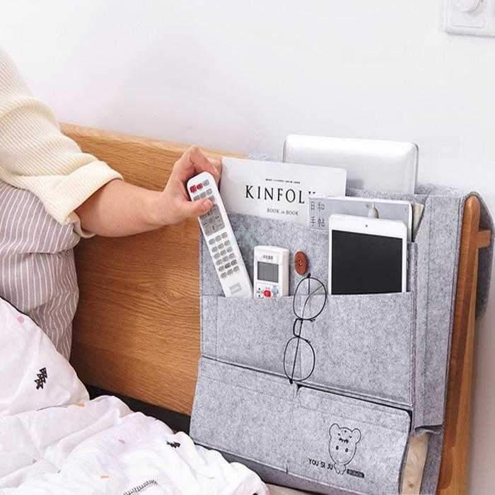 Detachable Bedside Storage Bag with Various Pockets-Sofa & Bedside Storage-Adorehouse.com