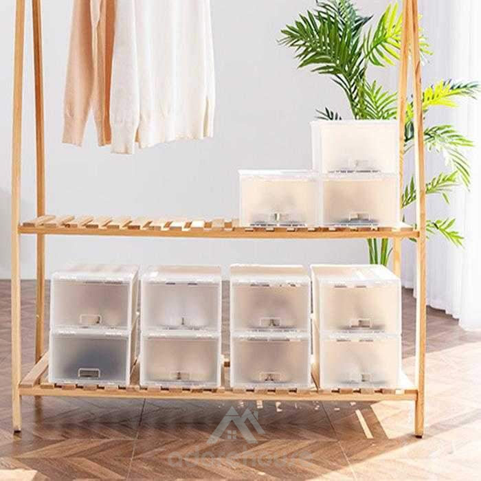 DIY Shoe Rack Portable Shoe Storage Organzier Plastic Stackable Storage Shoe Box-Shoes Storage-Adorehouse.com