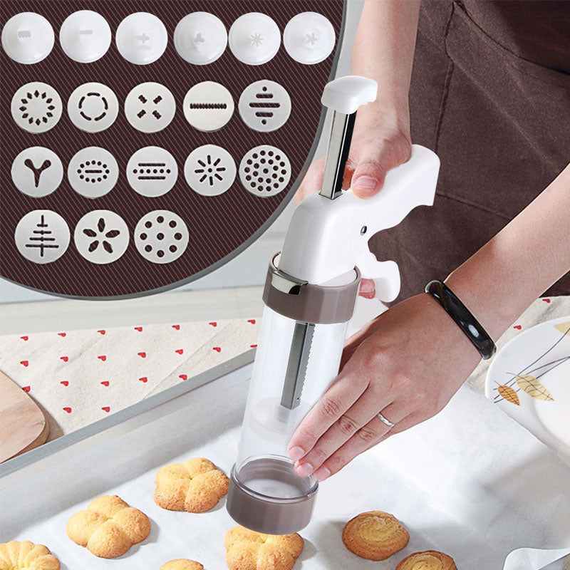 Cookie Press Kit -Biscuits Cake Mold Cookie Press Maker Machine