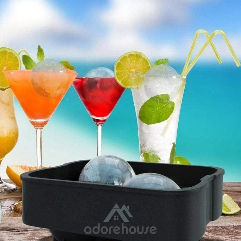 2 Pcs Silicone Mold for Big Ice Spheres-Drinkware & Dinnerware-Adorehouse.com