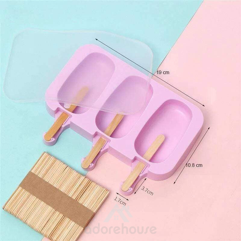 Reusable Ice Cubes Tray Freeze Popsicle Mold-Kitchen Tools & Gadgets-Adorehouse.com
