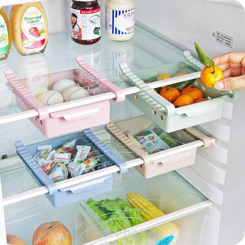 Retractable Refrigerator Storage Rack (2 Pcs)-Kitchen Tools & Gadgets-Adorehouse.com