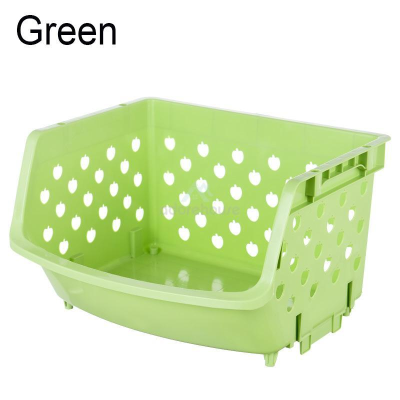 Stackable Plastic Storage Baskets Organizer-Fruit & Vegetable Tools-Adorehouse.com